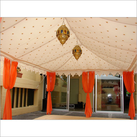 Party Tent With Gold Mark