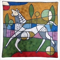 Picasso Horse Pillow