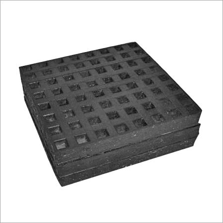 Metal Sandwich Rubber Pad Double Metal Plate (Sq.)