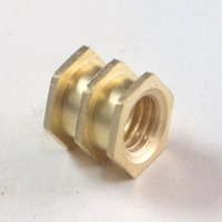 Brass Triple Hex Moulding Inserts