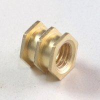 Brass Triple Hex Moulding Inserts