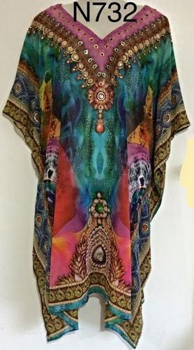 Digitan Print Silk Kaftan