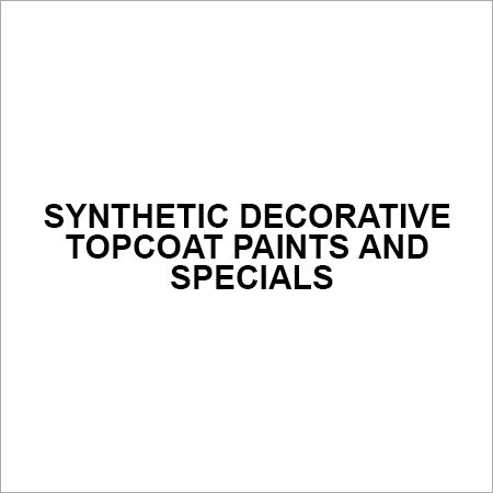 Synthetic Decorative Topcoat Paints And Specials