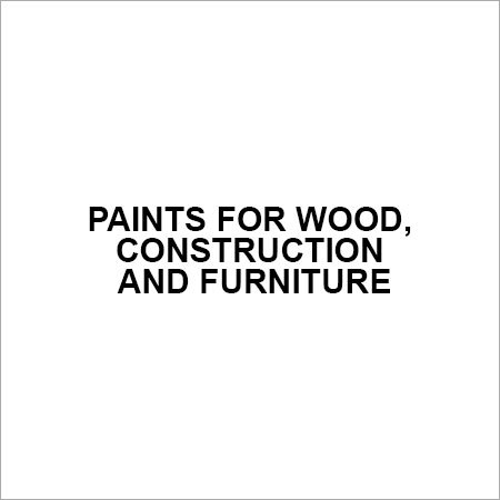 Paints For Wood, Construction And Furniture