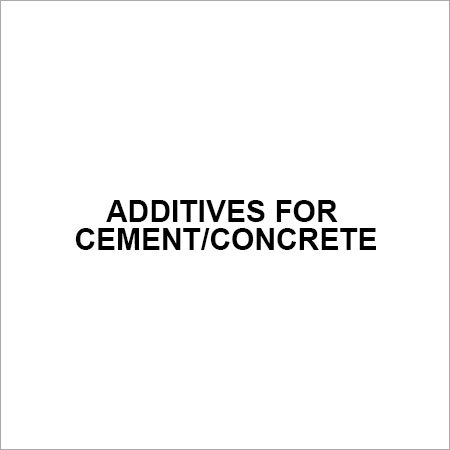 Additives for cement concrete