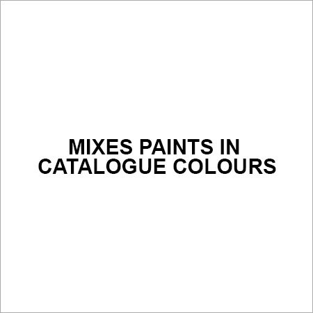 Mixes paints in catalogue colours