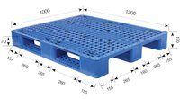 Industry Heavy Duty Plastic Pallet with 3 runners