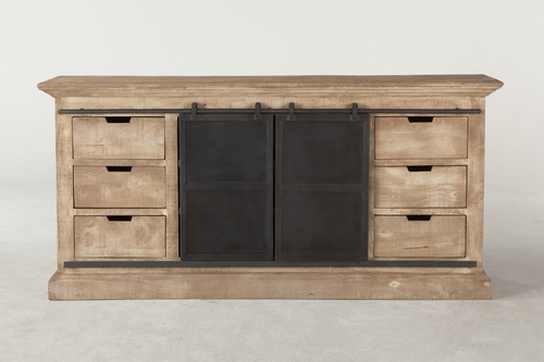 Metallic Door Sideboard