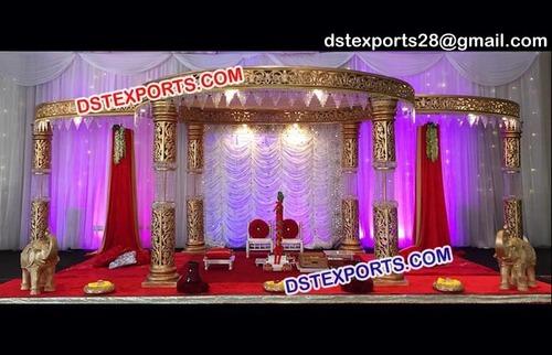 Indian Crystal Fiber Wedding Mandap
