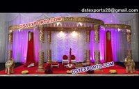 Indian Crystal Fiber Wedding Mandap