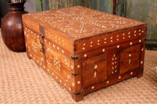 Wooden Bone Inlaid Box