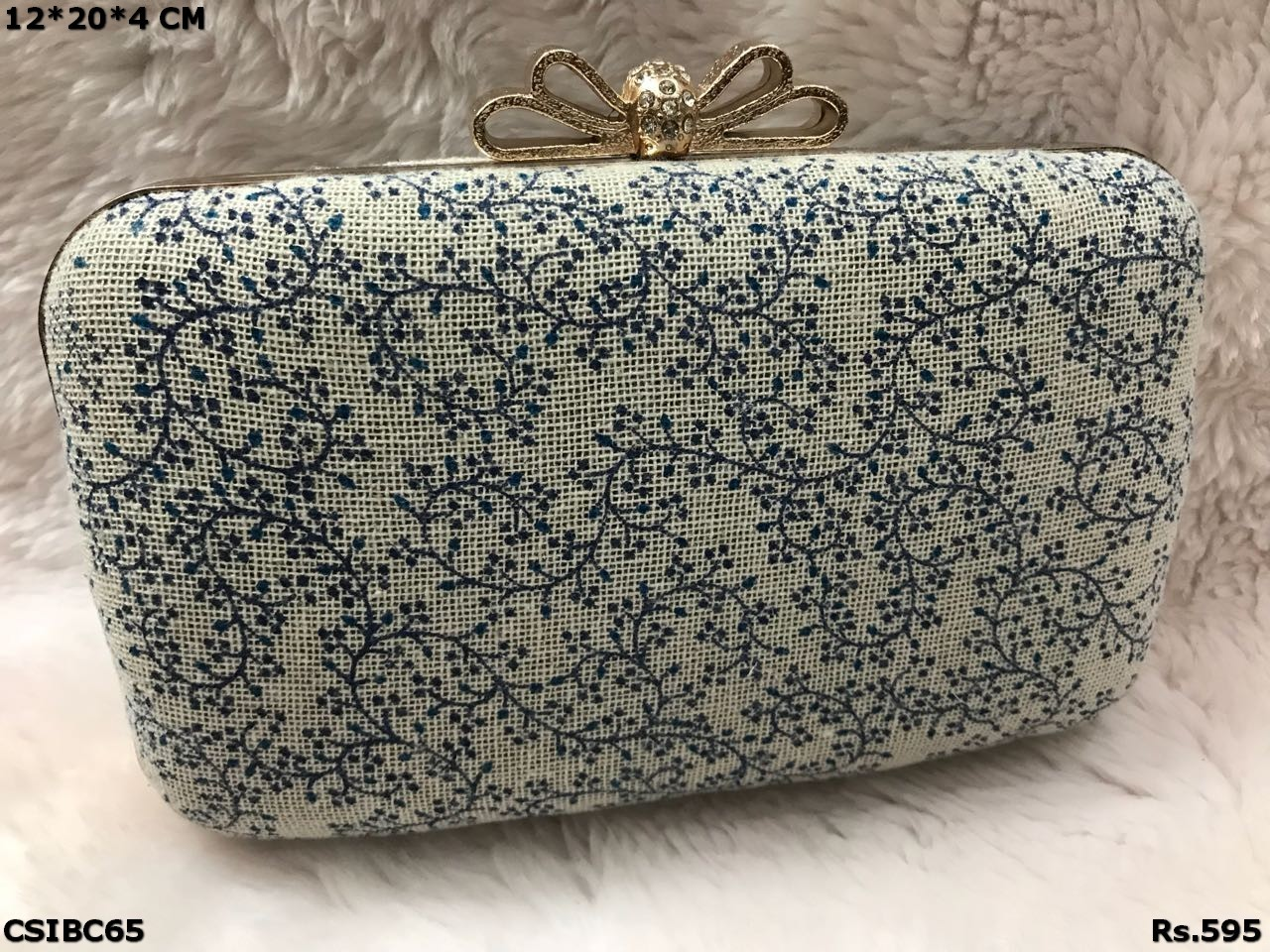 Beautiful Printed Box Clutch