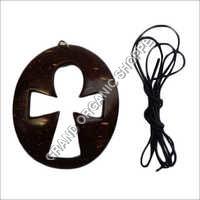 Coconut Shell Cross Pendant