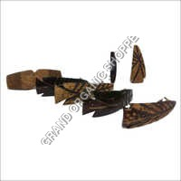 Coconut Shell Ladies Hair Clip With Steel Handles