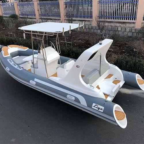 Liya 5.8m Semi Rigid Boats Inflatable Rib Boats For Sale