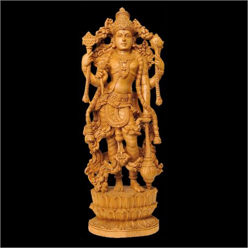 Wooden Vishnu Statue