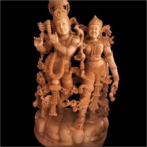 Wooden Radha Statue