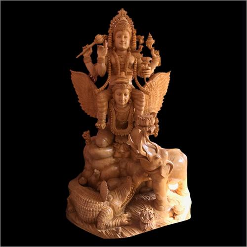Wooden Garuda Statue