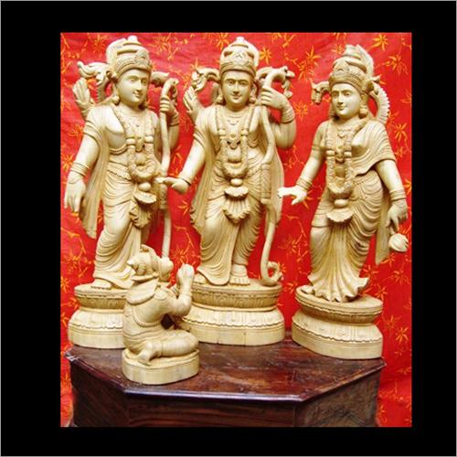 Wooden Rama Statue