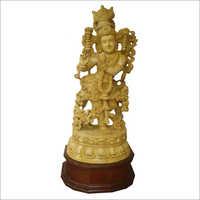 Wooden Shri Krishna Statue