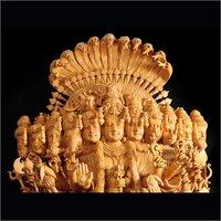 Vishwaroopam Wooden Statue