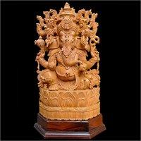 Wooden Ganesh Statue