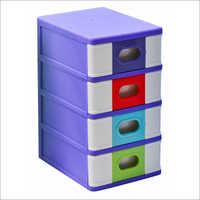 Plastic Four Stage Storage Cabinet