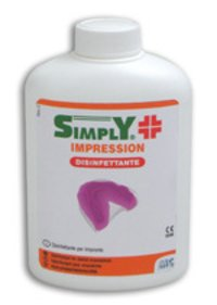 Simply Impression Bottles of 250ml for the Disinfection of Dental Impressions