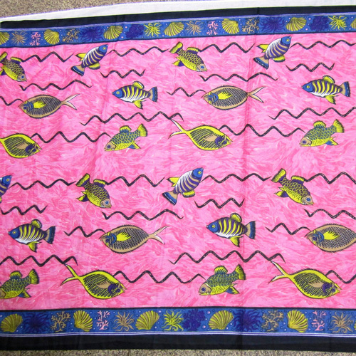 Fish Printed Beachwear Sarongs