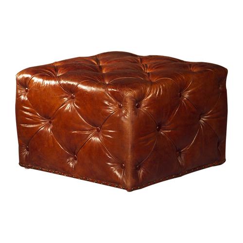 Pouf Leather Ottoman