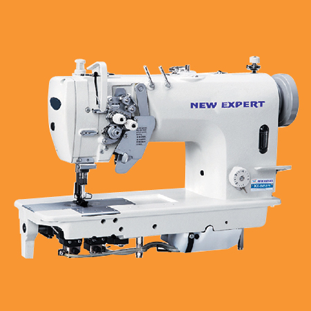 High Speed Double Needle Splitbar Flatbed Lockstitch Sewing Machine