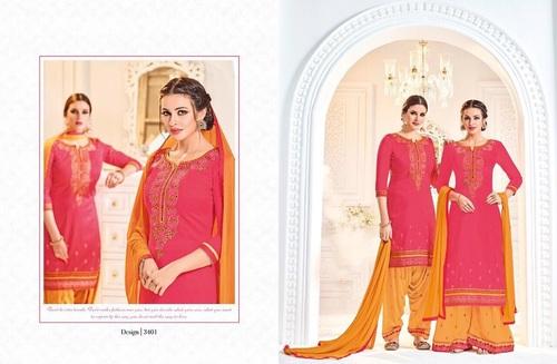 Cotton Satin Punjabi Suit