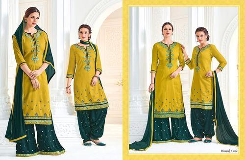 Embroidery Work Patiala Suit Wholesaler
