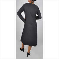 HDD-715-04-full sleeves with deep V neck dress-back