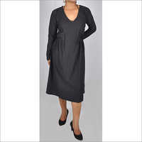 HDD-715-04-full sleeves with deep V neck dress-front
