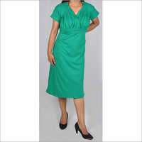 HDD-715-05-knee length tunic dress-front
