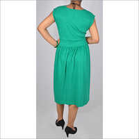 HDD-715-07-knee length tunic dress with waist band-back
