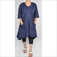 HDD-715-11-asymmetrical dress with designer front pocket-front