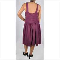 HDD-715-12-formal gather design tunic dress with low back-back