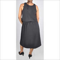 HDD-715-18-two piece sleeveless dress with skirt bottom-back