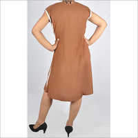 HDD-715-20-V neck dress with lace piping-back