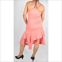 HDD-715-24-spaghetti strap with neck gather dress-back