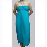HDD-715-25-halter neck calf length dress-front
