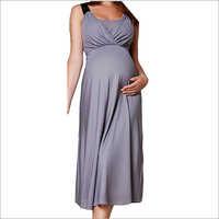 HDMW 1379-melange grey maternity dress