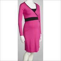 HDMW 1399- Maternity mock wrap dress