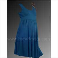 HYMD1613 - Round neck high waist sleeveless dress