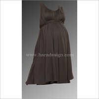 HYMD1614 - Round neck gather dress with belt