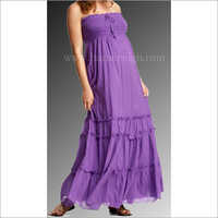 HYMD1627-maxi dress with frill detailing and