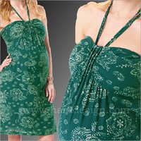 HYMD1629.- Neck tie short dress