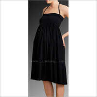 HYMD1669 -  Strap tie knee length dress